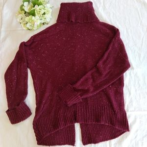 Caslon Burgundy Turtleneck, Sz Large Petite